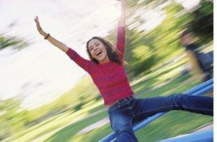 mujer con energía y vitalidad feliz