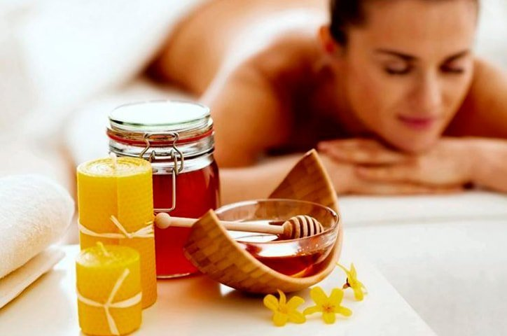 Masaje con miel
