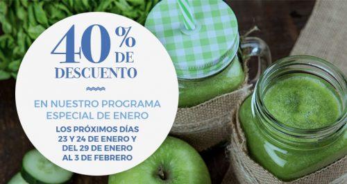 banner del programa especial con 40% de descuento
