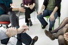 Foto de una terapia grupal